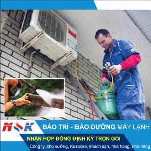 Bảo trì, bảo dưỡng, vệ sinh máy lạnh tại nhà HCM