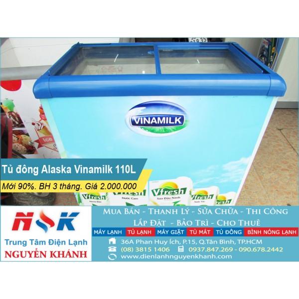 Tủ đông kem cũ Alaska Vinamilk 110 lít