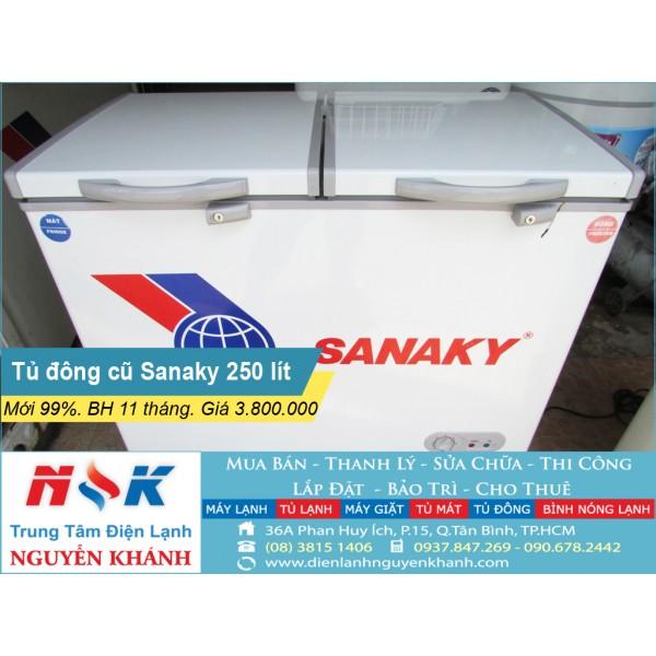 Tủ đông cũ Sanaky VH-255W2 250 lít