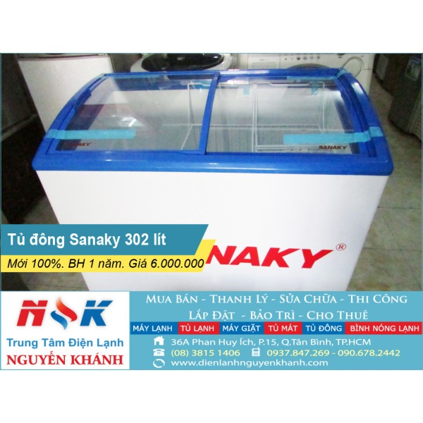 Tủ đông cũ Sanaky VH-302VNM 302 lít