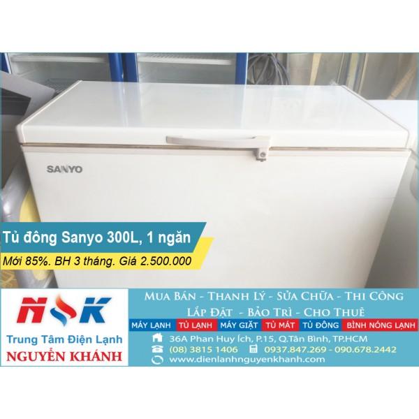 Tủ đông cũ Sanyo SF-C30K(A) 300 lít