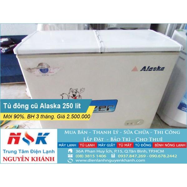 Tủ đông cũ Alaska BD-3399B 250 lít