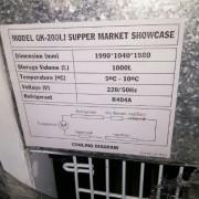 Tủ mát siêu thị không kính ALASKA GK-200LJ 1000 lít