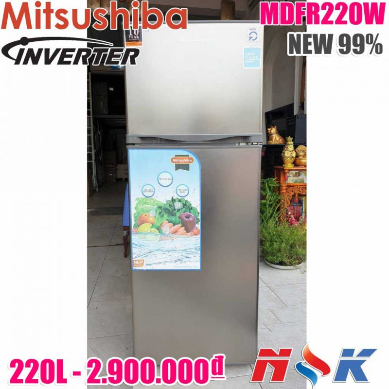 Tủ Lạnh Mitsushiba Inverter MDFR220W 220 lít