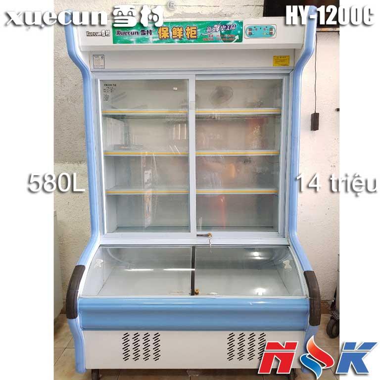 Tủ đông mát trưng bày siêu thị Xuecuns HY-1200C 580 lít