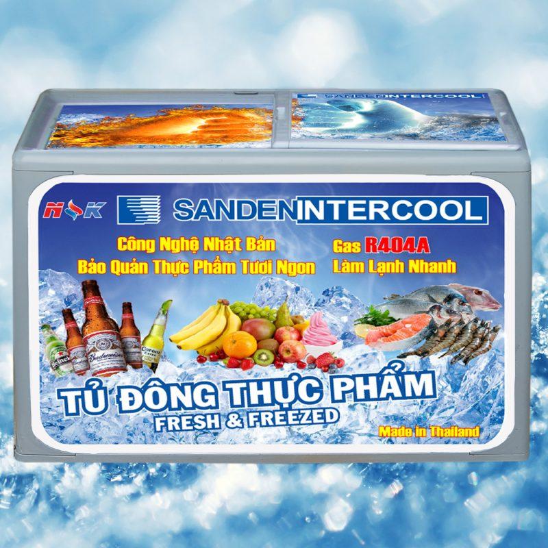 Tủ đông thực phẩm Thái Lan 400 lít (Nắp nhựa bằng)
