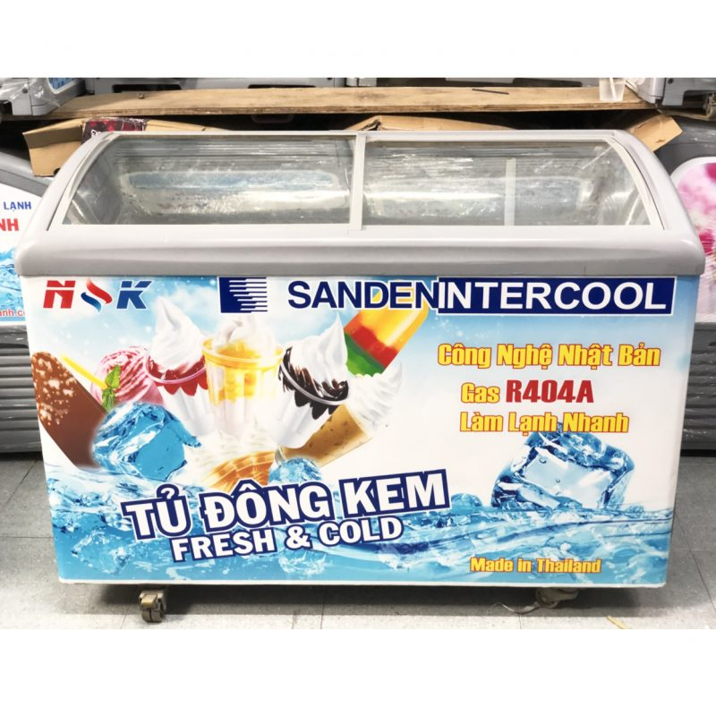 Tủ đông Thái Lan 350 lít (Kính cong)