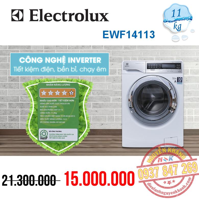Máy giặt Electrolux Inverter EWF14113 11kg