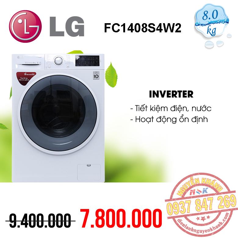 Máy giặt LG Inverter FC1408S4W2 8kg