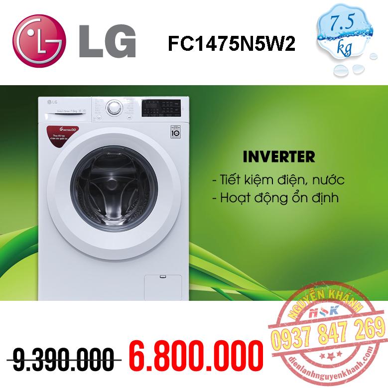 Máy giặt LG Inverter FC1475N5W2 7.5kg