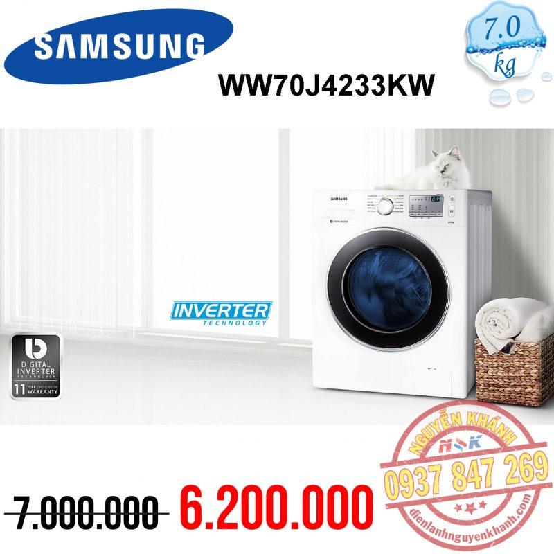 Máy giặt Samsung Inverter WW70J4233KW 7kg
