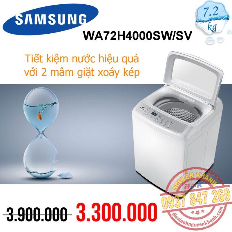 Máy giặt Samsung WA72H4000SW/SV 7.2kg