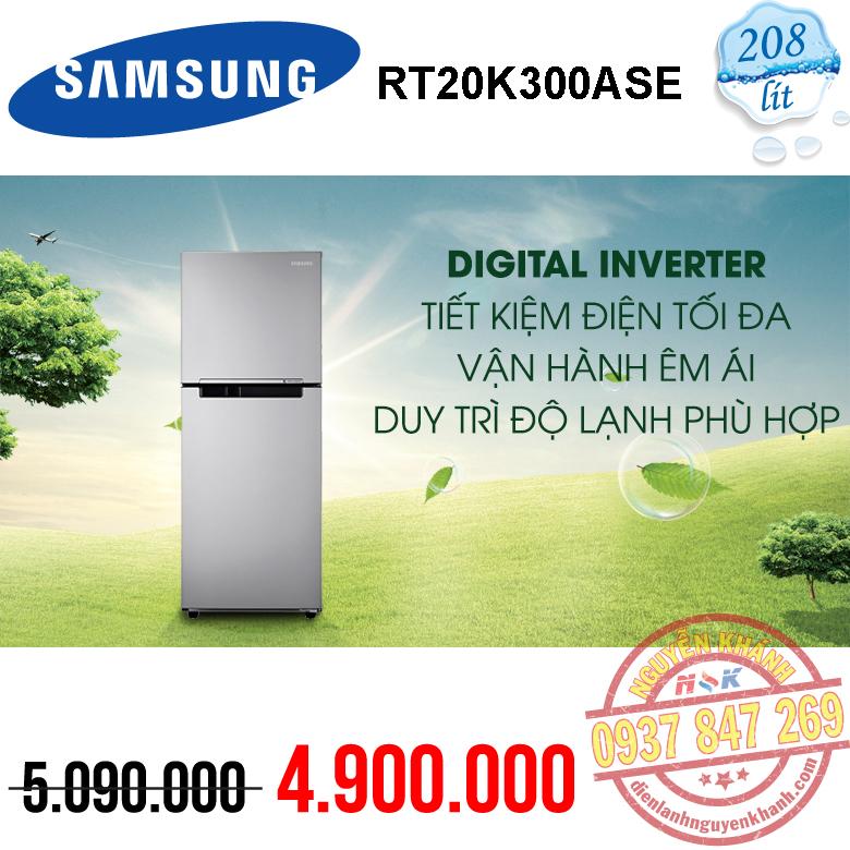 Tủ lạnh Samsung Inverter RT20K300ASE 208 lít