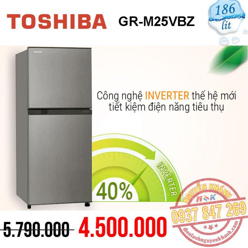 Tủ lạnh Toshiba Inverter GR-M25VBZ(S) 226 lít