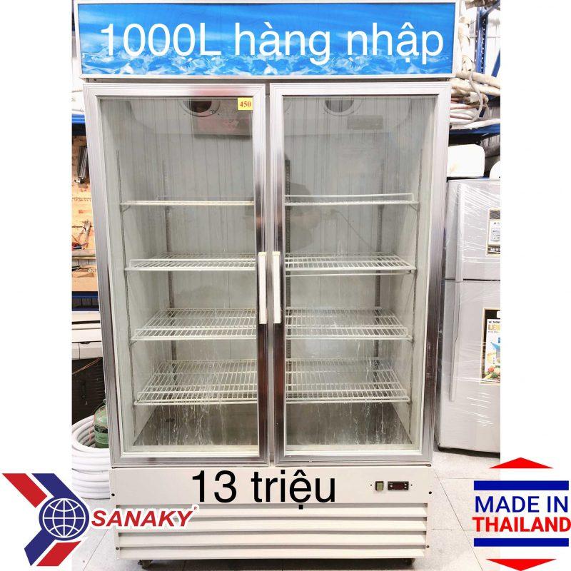 Tủ mát Sanaky Thái Lan 1000 lít, 2 cánh