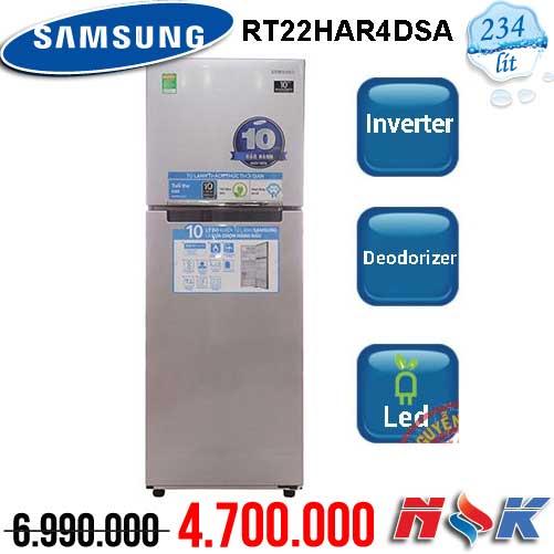 Tủ lạnh Samsung Inverter RT22HAR4DSA 243 lít
