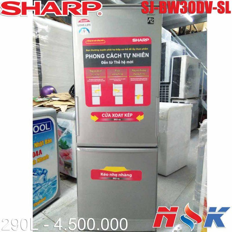 Tủ lạnh Sharp SJ-BW30DV-SL 290 lít