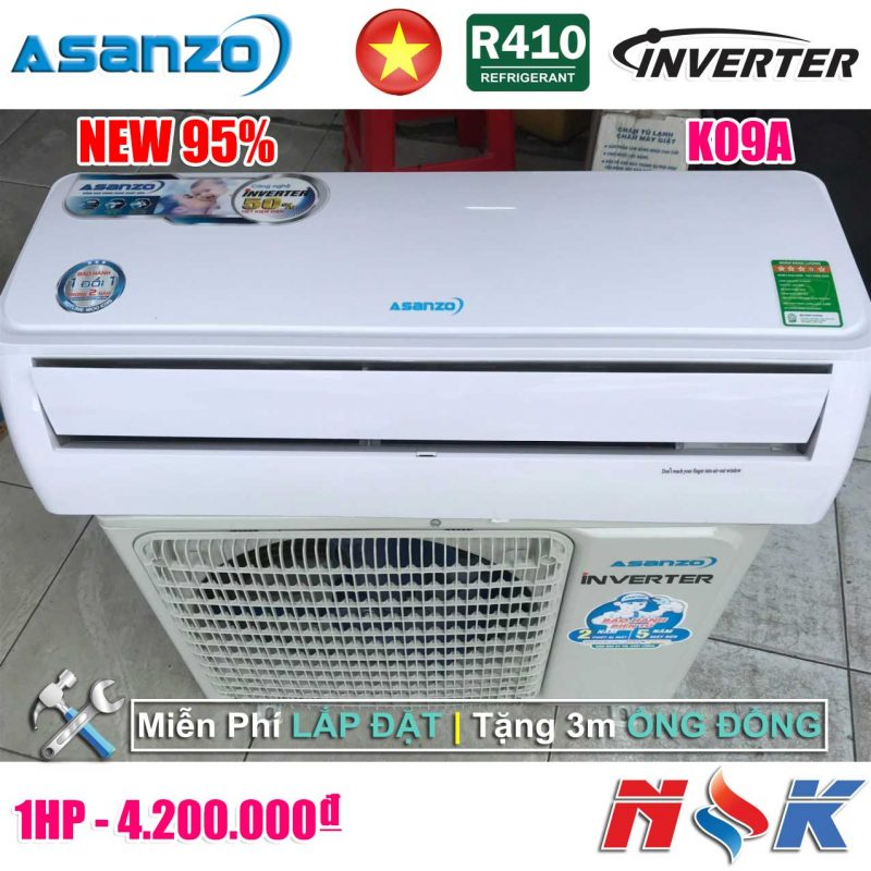 Máy lạnh Asanzo Inverter K09A 1HP