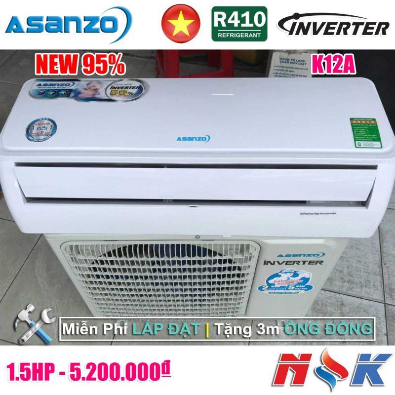 Máy lạnh Asanzo Inverter K12A 1.5HP