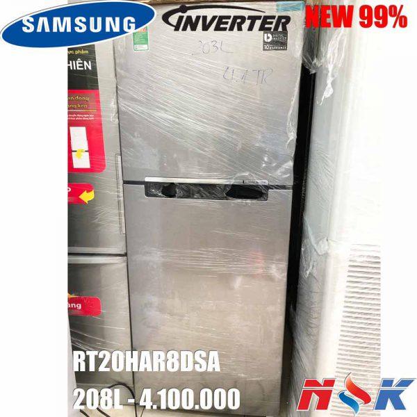 Tủ lạnh Samsung Inverter RT20HAR8DSA/SV 208 lít