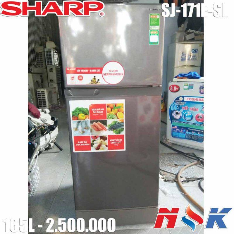 Tủ lạnh Sharp SJ-171E-SL 165 lít