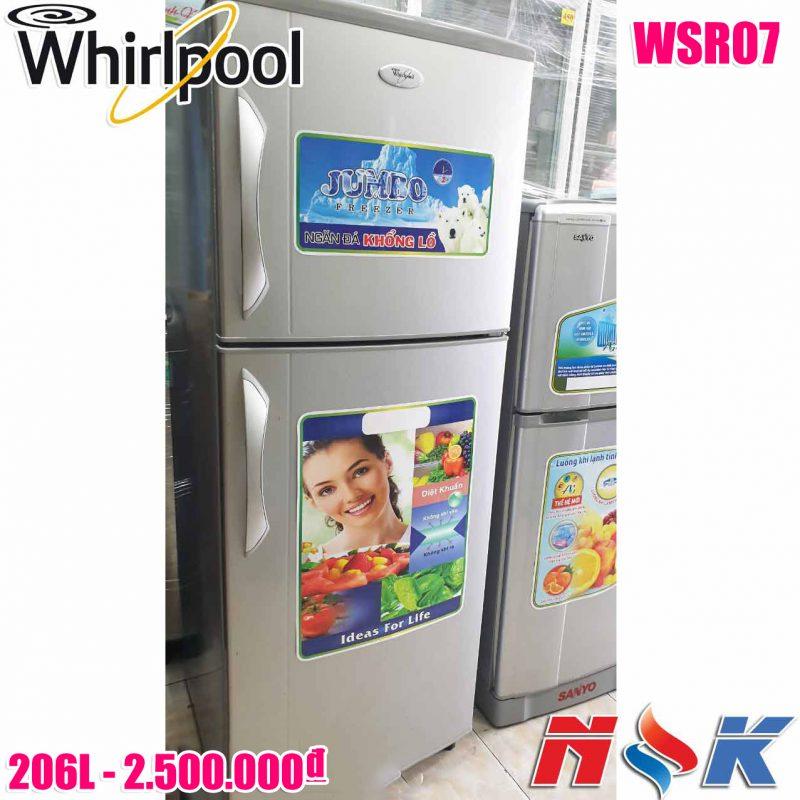 Tủ lạnh Whirlpool WSR07-SL 206 lít
