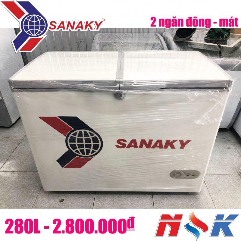 Tủ đông cũ Sanaky 2 ngăn 280 lít