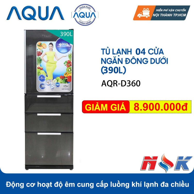 Tủ lạnh Aqua AQR-D360 390 lít