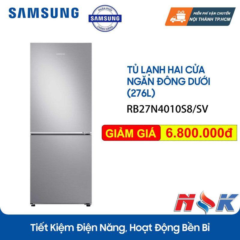 Tủ lạnh Samsung InverterRB27N4010S8 280 lít