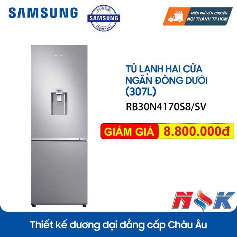 Tủ lạnh Samsung Inverter RB30N4170S8 307 lít