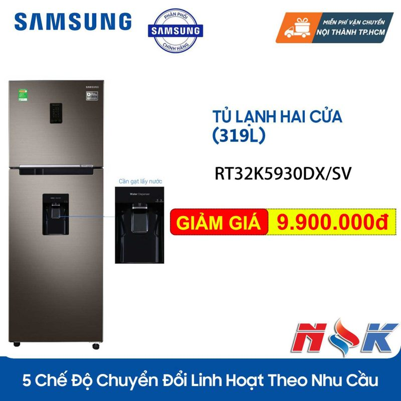 Tủ lạnh Samsung Inverter RT32K5930DX 319 lít