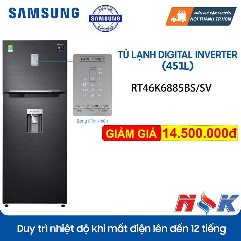 Tủ lạnh Samsung InverterRT46K6885BS 451 lít