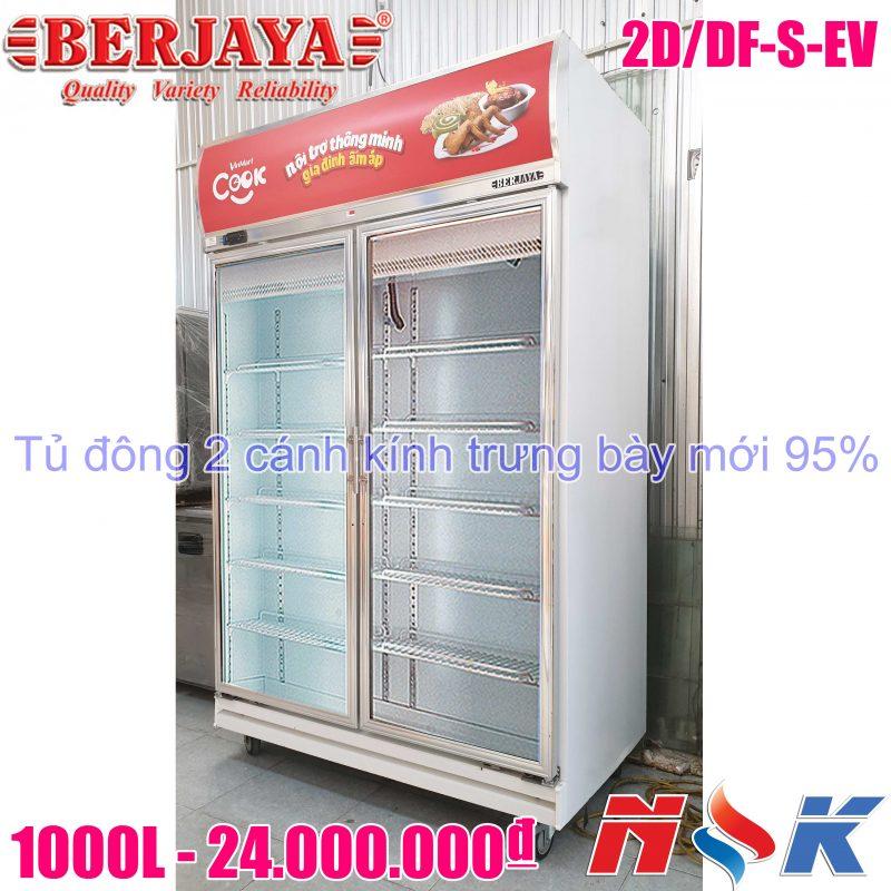 Tủ đông trưng bày 2 cánh kính Berjaya 2D/DF-S-EV