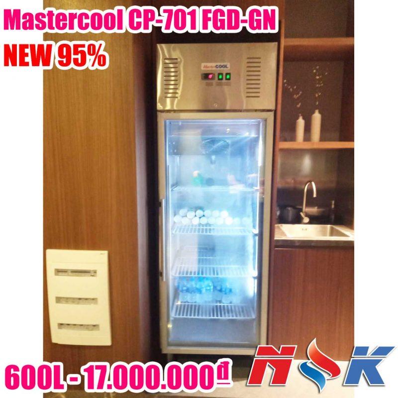 Tủ mát Mastercool 1 cánh kính CP-701 FGD-GN