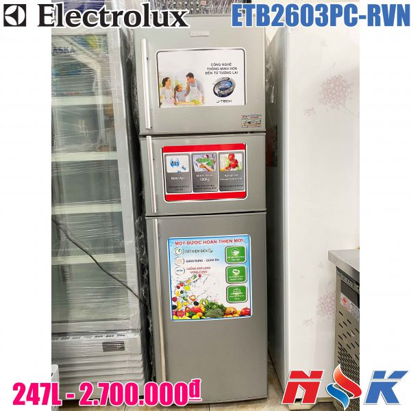 Tủ lạnh Electrolux ETB2603PC-RVN 247 lít