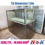 Tủ mát trưng bày kính vuông Showcase 1.5m
