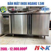 Bàn mát inox Neo Freezer EK181 1m5