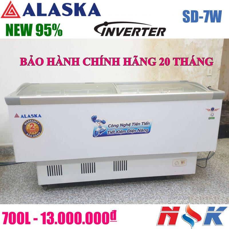Tủ đông kính cong Alaska SD-7W 700 lít