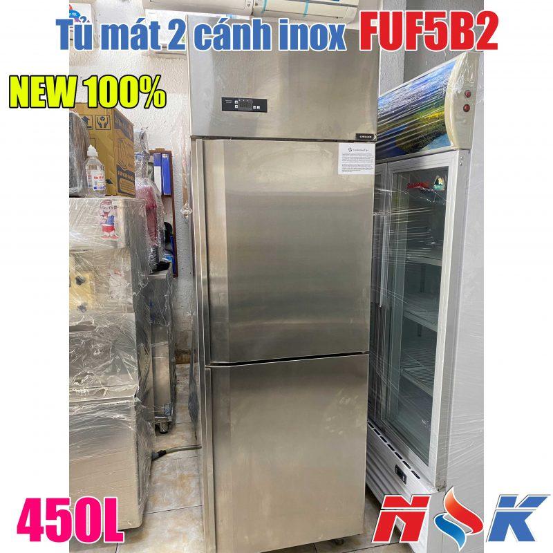 Tủ mát 2 cánh inox FUF5B2 450 lít