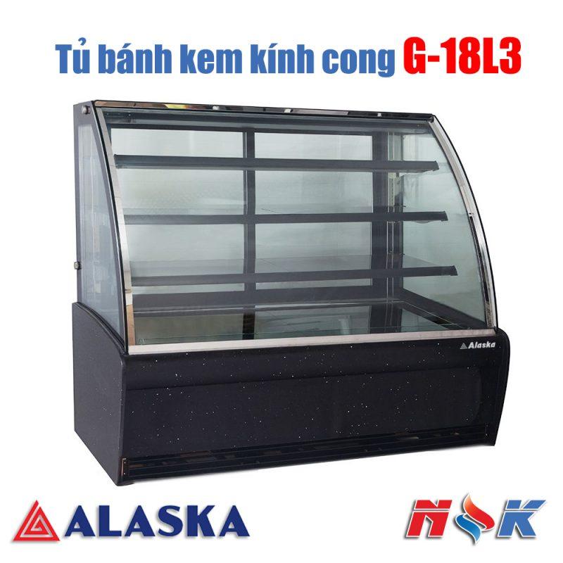 Tủ bánh kem kính cong Alaska G-18L3
