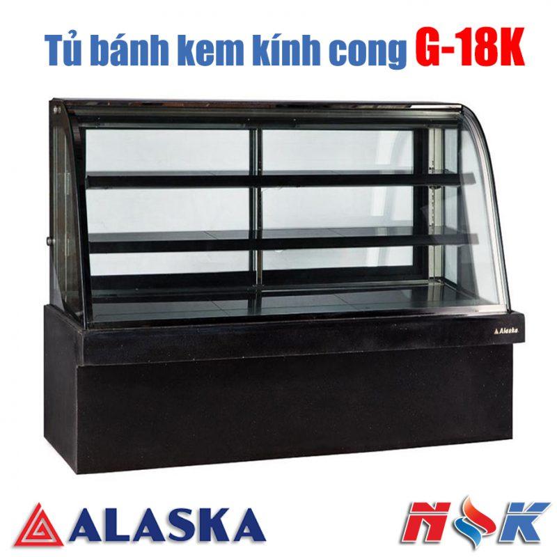 Tủ bánh kem kính cong Alaska G-18K