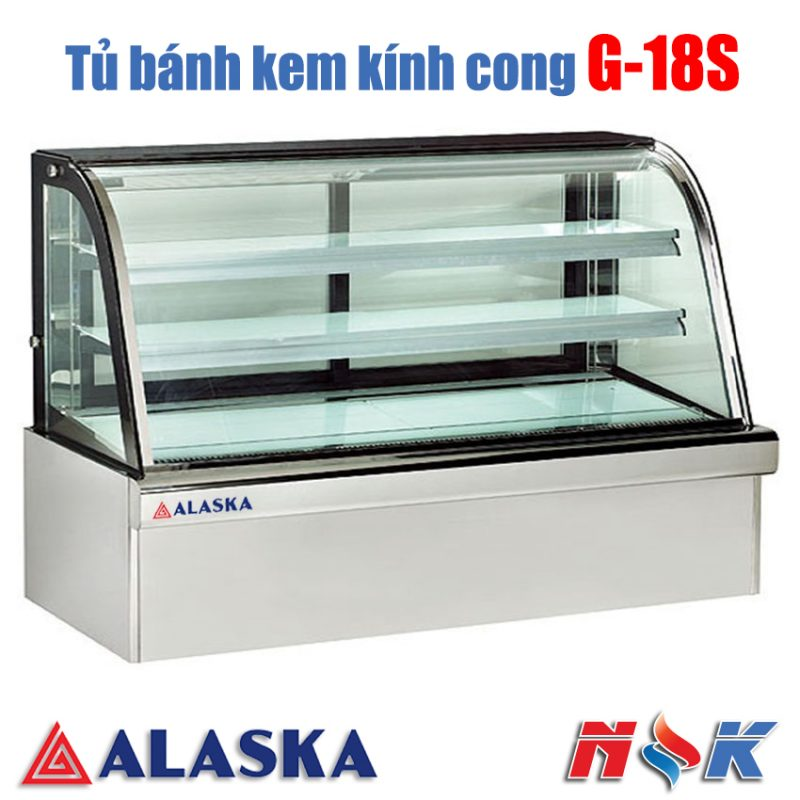 Tủ bánh kem kính cong Alaska G-18S