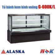 Tủ bánh kem kính vuông Alaska G-600K