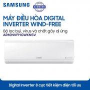 Máy lạnh Samsung Inverter AR10NVFHGWKNSV 1 HP chính hãng thanh lý giá rẻ. Điện Lạnh Nguyễn Khánh cung cấp Máy lạnh Samsung Inverter AR10NVFHGWKNSV 1 HP
