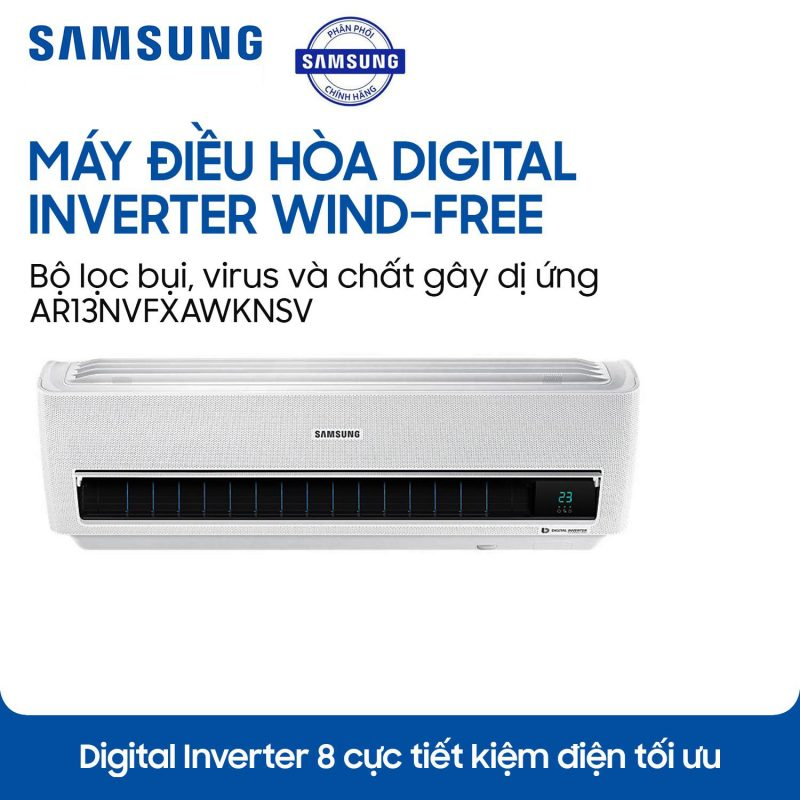 Máy lạnh Samsung Inverter AR13NVFXAWKNSV 1.5HP