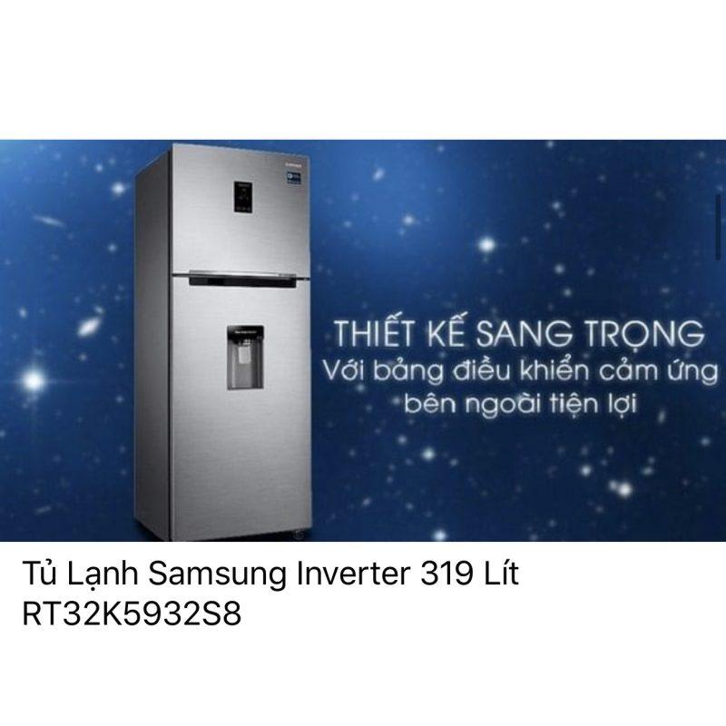 Tủ lạnh Samsung InverterRT32K5932S8/SV319 lít