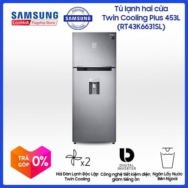 Tủ lạnh Samsung InverterRT43K6631SL/SV438 lít