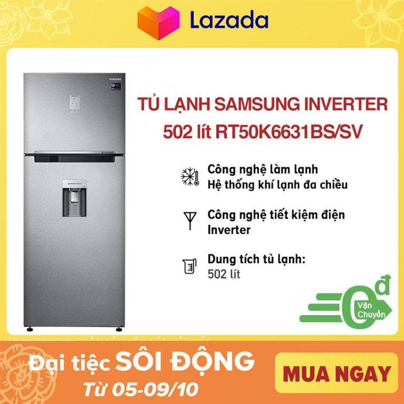 Tủ lạnh Samsung InverterRT50K6631BS/SV502 lít