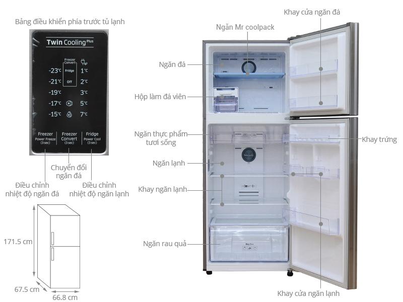 Thông số kỹ thuật Tủ lạnh Samsung Inverter 364 lít RT35K5532S8/SV