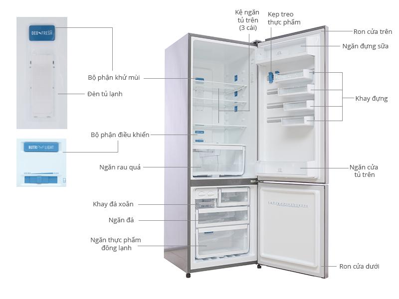 Thông số kỹ thuật Tủ lạnh Electrolux EBE3500SA 350 lít